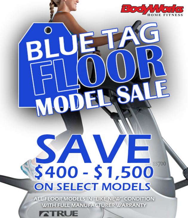 Blue Tag Floor Model Sales Banner - Click Image to Close