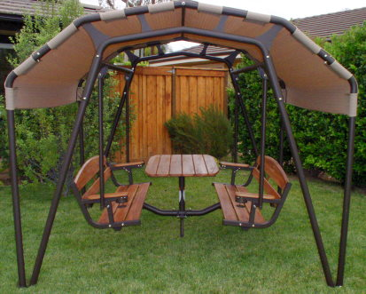 larger image & Sunset Swings 460GN 6-Person Patio Swing Set [460GN] - $3695.00 ...