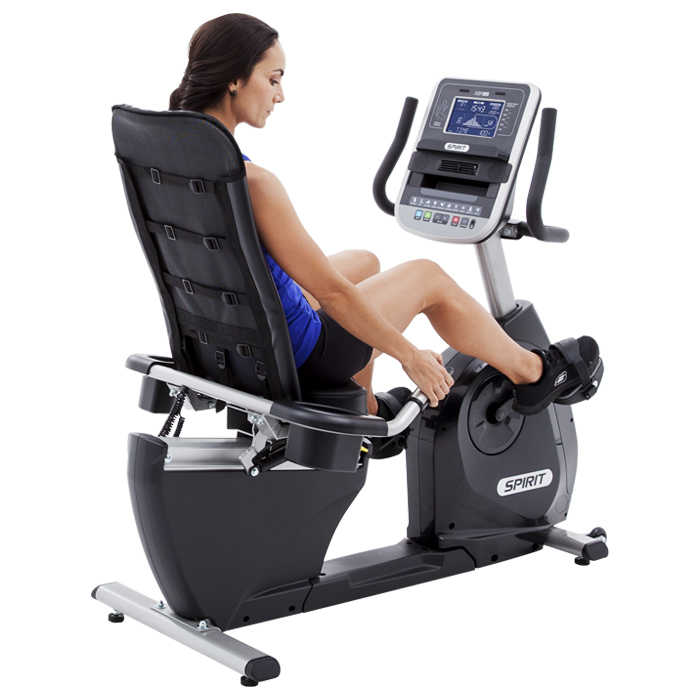 Spirit Fitness XBR95 Step-Thru Recumbent Bike - Click Image to Close